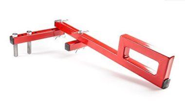 "Sonour Red Floor Decking Tool Board Bender - Hardwood Bow Wrench Deck Board Straightener Flooring Jack Straightening Tool - Push & Pull - Extremely Adjustable Gripper Fits 2"" 3"" 4"" 5"" Floor Joists"