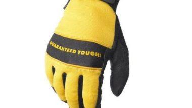 Dewalt DPG20L All Purpose Synthetic Leather Palm Spandex Back Velcro Wrist Work Glove, Large