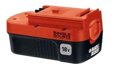 Black and Decker 18 Volt Single Source Battery Pack