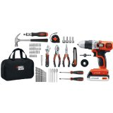 Black & Decker LDX120PK Lithium Drill and Project Kit, 20-volt