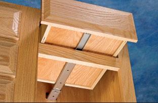 center mounted drawer slides